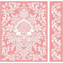 "Juliet Damask Embossing Folder 4,25""x5,5"" Cricut Cuttlebug"