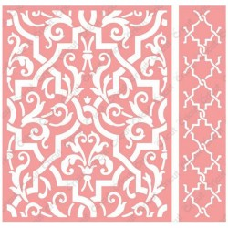 "Elaborate Quatrefoil Embossing Folder 4,25""x5,5"" Cricut Cuttlebug"