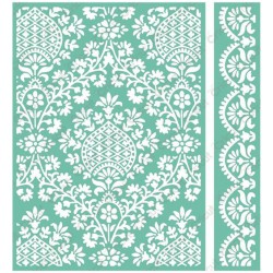 "Ogee Damask Embossing Folder 5""x7"" Cricut Cuttlebug"