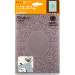 "Baroque Vine Frame Embossing Folder 5""x7"" Cricut Cuttlebug"