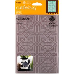 "Celtic Link Embossing Folder 5""x7"" Cricut Cuttlebug"