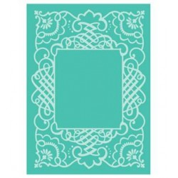 "Calligraphy Frame Embossing Folder 5""x7"" Cricut Cuttlebug"