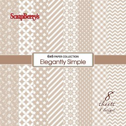 "Elegantly Simple Paper Pack 6""x6"" 8 Pkg Scrapberry's"