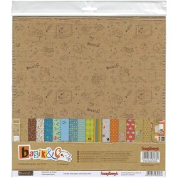 "Basik & Co Paper Set 12""x12"" 11 Pkg Scrapberry's"