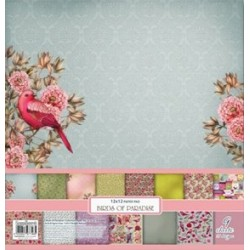 "Birds Of Paradise Paper Set 12""x12"" 9 Pkg Scrapberry's"