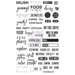 Food & Travel Clear Stamps By Frank Garcia My Prima Planner Prima Marketing