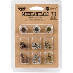 Mini Knobs Mechanicals Metal Embellishments by Finnabair Prima Marketing