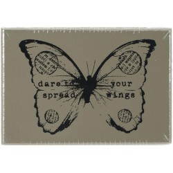 Butterfly 2 Wood Mounted Stamp by Finnabair Prima Marketing