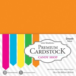 "Candy Shop Smooth Texture Premium Cardstock 12""x12"" Core'dinations"