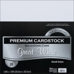 "Great White Smooth Texture Premium Cardstock 12""x12"" Core'dinations"