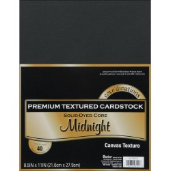 "Midnight Canvas Texture Premium Cardstock 12""x12"" Core'dinations"