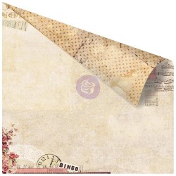 """Little Love Notes Foiled Double-Sided Cardstock 12""""x12"""" Love Clippings Prima Marketing"""