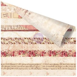 """All Of Me Loves All Of You Foiled Double-Sided Cardstock 12""""x12"""" Love Clippings Prima Marketing"""