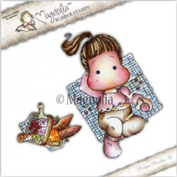 Timbro Picnic Tilda with Basket Magnolia Rubber Stamp - RC17