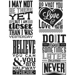 "Motivation 3 Tim Holtz Cling Rubber Stamp Set 7""x8,5"""