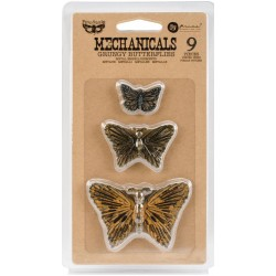 Grungy Butterflies Mechanicals Metal Embellishments by Finnabair Prima Marketing