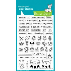 """Plan On It Clear Holidays Stamp 4""""x6"""" Lawn Fawn"""