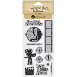 Timbri Vintage Hollywood 1 Cling Stamps by Graphic45 Hampton Art
