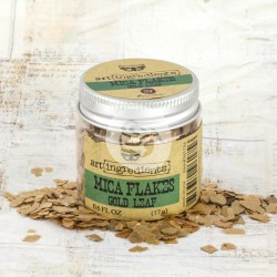 Gold Leaf Mica Flakes Art Ingredients by Finnabair Prima Marketing
