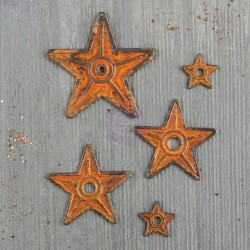 Barn Stars Mechanicals Metal Embellishments by Finnabair Prima Marketing