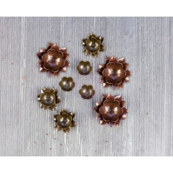 Metal Lotus Mechanicals Metal Embellishments by Finnabair Prima Marketing