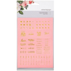 Pink Words Faux Leather Stickers Webster's Pages