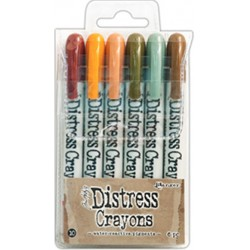 Set 10 Distress Crayons Set Tim Holtz