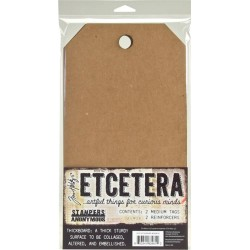 "Etcetera Medium Tag 6,5""x12"" by Tim Holtz Stampers Anonymous"