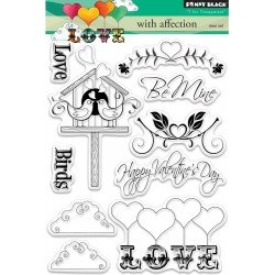"""With affection Clear Stamp 4""""x6"""" Penny Black"""