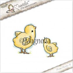 Timbro Cute Chickens Magnolia Rubber Stamp - ST17