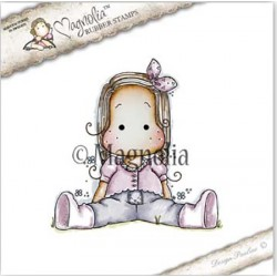 Timbro Sitting Spring Tilda Magnolia Rubber Stamp - ST17