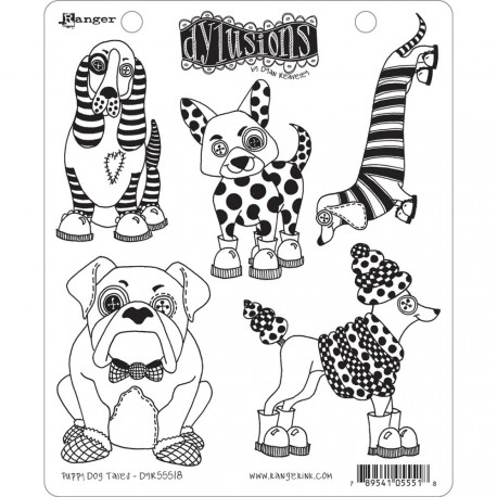 Puppy Dog Tales Dyan Reaveley's Dylusions Cling Stamp Collections