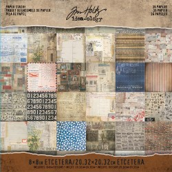 "Etcetera Paper Stash 8""x8"" Idea-ology by Tim Holtz"