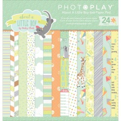 "About A Little Boy 6""x6"" Paper Pad by Becky Heck PhotoPlay"