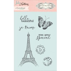 French Flea Market Polymer Clear Stamps Photo Play by Julie Nutting