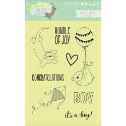 About A Little Boy Polymer Clear Stamps Photo Play by Julie Nutting