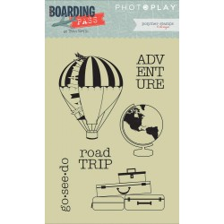 Boarding Pass Polymer Clear Stamps Photo Play by Tracy Smith