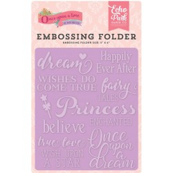 "Fairytale Words Embossing Folder 5""x6"" Echo Park"
