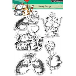 Furry Hugs Clear Stamps Set Penny Black