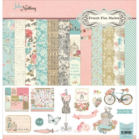 """French Flea Market 12""""x12"""" Collection Pack by Julie Nutting Photo Play"""