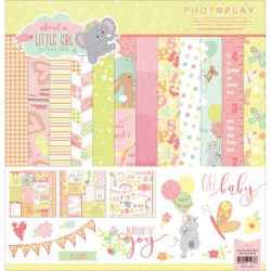 "About A Little Girl 12""x12"" Collection Pack by Becky Heck PhotoPlay"
