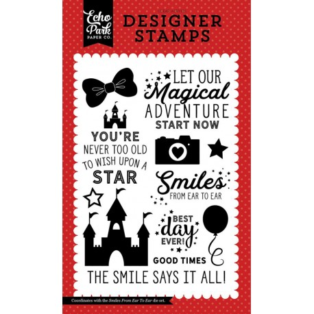 Smiles From Ear To Easr Clear Stamps Echo Park