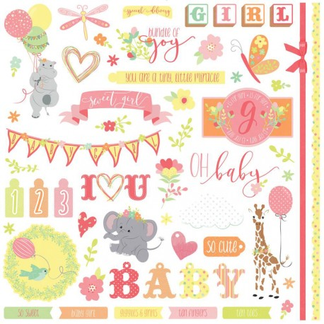 "About a Little Girl Elements Stickers 12""x12"" Photo Play"