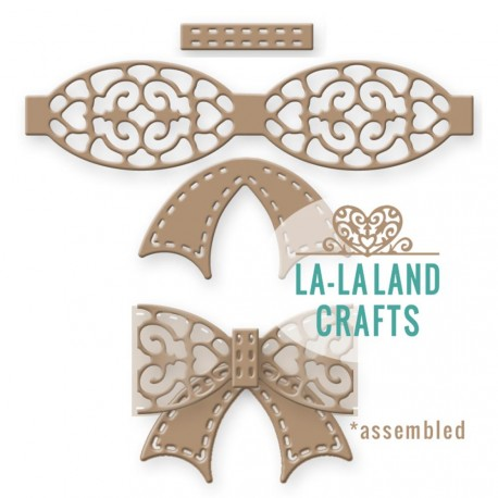 Filigree Bow Steel Craft Dies La-La Land Crafts