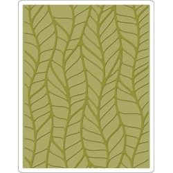 Leafy Texture Fades A2 Embossing Folder Tim Holtz