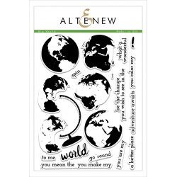 "Timbri Big World Clear Stamps 6""x8"" Altenew"