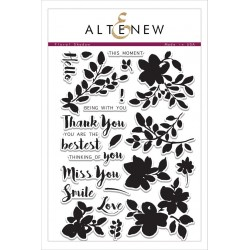 "Timbri Floral Shadow Clear Stamps 6""x8"" Altenew"