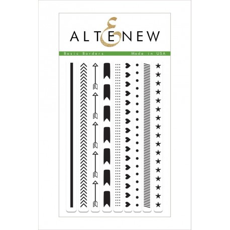 "Basic Borders Clear Stamps Set 4""x6"" Altenew"