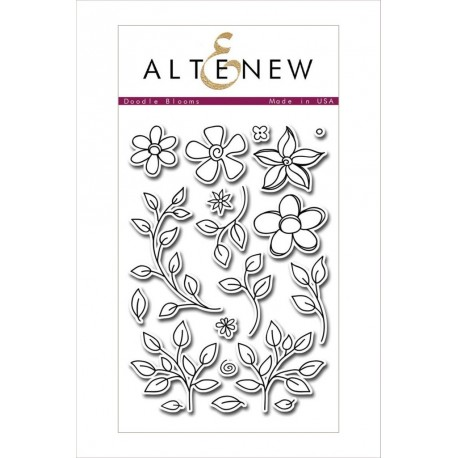 """Doodle Blooms Clear Stamps Set 4""""x6"""" Altenew"""