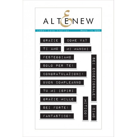 "Label Love Italian Clear Stamps Set 4""x6"" Altenew"